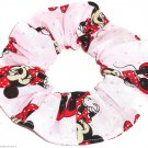 Disney Minnie Mouse Red Dress Pink Fabric hair Scurnchie Scrunchies by Sherry