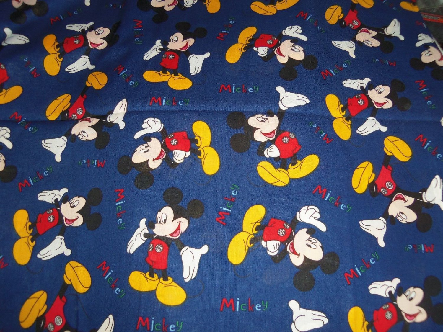 Disney Mickey Mouse Navy Blue Fabric hair Scurnchie Scrunchies by Sherry