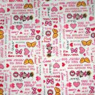 Disney Minnie Mouse Words White Fabric hair Scurnchie Scrunchies by Sherry