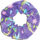 Disney Tinker Bell Purple Fabric hair Scurnchie Scrunchies by Sherry