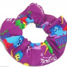 Disney Inside Out Purple Fabric hair Scurnchie Scrunchies by Sherry
