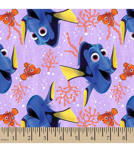 Disney Finding Dory Purple Fabric hair Scurnchie Scrunchies by Sherry