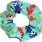 Disney Finding Dory Teal Green Fabric hair Scurnchie Scrunchies by Sherry