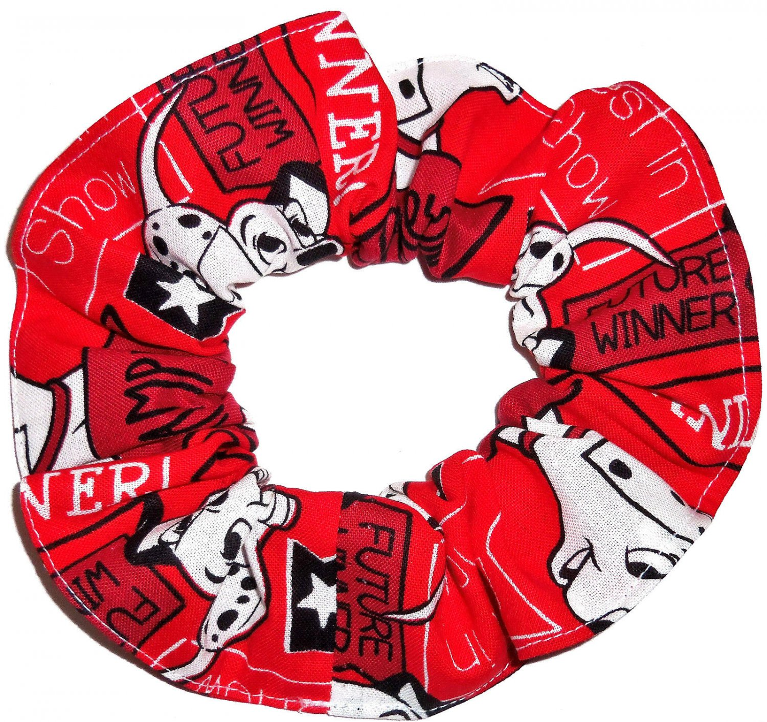 Disney 101 Dalmatains Red Fabric hair Scurnchie Scrunchies by Sherry
