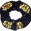 Disney Stars Wars Gold Black Fabric hair Scurnchie Scrunchies by Sherry