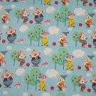 Disney Seven Dwarfs Dopey Grumpy Blue Fabric hair Scurnchie Scrunchies by Sherry