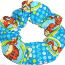 Disney Tigger Green Blue Fabric hair Scurnchie Scrunchies by Sherry