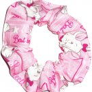 Disney Marie Pink Fabric hair Scurnchie Scrunchies by Sherry