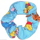Disney Winnie the Pooh Eeyore Tigger Blue Fabric hair Scurnchie Scrunchies by Sherry