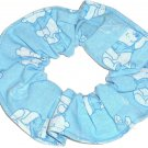 Disney Winnie the Pooh Blue Fabric hair Scurnchie Scrunchies by Sherry