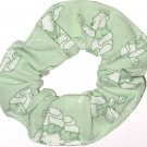 Disney Winnie the Pooh Green Fabric hair Scurnchie Scrunchies by Sherry
