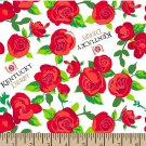 Kentucky Derby Roses Fabric Hair Scrunchie Scrunchies by Sherry
