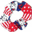 Hello Kitty Patriotic Patchwork Fabric Hair Tie Scrunchie Ties Scrunchies by Sherry