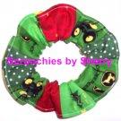 John Deere Christmas Fabric Hair Scrunchie Scrunchies by Sherry