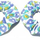 Looney Tunes Tweety Bird Blue Mini Hair Scrunchie Scrunchies by Sherry Lot of 2