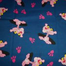 Pink Panther Blue Fabric Hair Scrunchie Scrunchies by Sherry