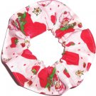 Strawberry Shortcake Pink Fabric Hair Scrunchie Tie Scrunchies by Sherry