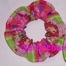 Strawberry Shortcake Pink Patchwork Fabric Hair Scrunchie Tie Scrunchies by Sherry