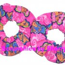 Hot Pink Scooby Doo Frames Fabric Mini Hair Scrunchie Scrunchies by Sherry Lot of 2
