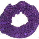 Purple Sequin Dots Fabric Hair Scrunchis Scrunchies by Sherry