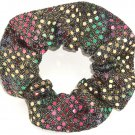 Rainbow Sequin Dots Fabric Hair Scrunchis Scrunchies by Sherry
