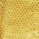 Golden Yellow Sequin Dots Fabric Hair Scrunchis Scrunchies by Sherry