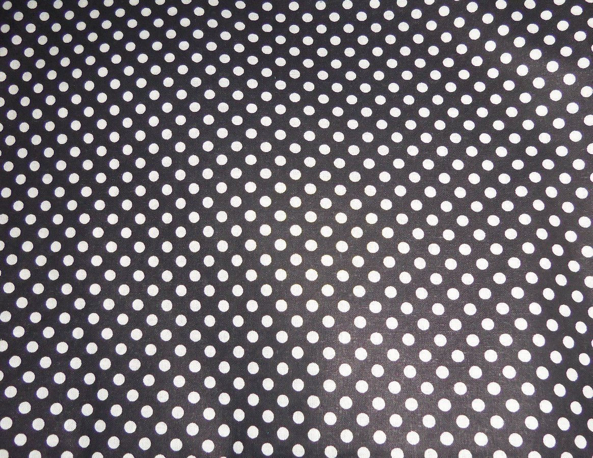 White on Black Polka Dots Dot Fabric Hair Scrunchie Ties Scrunchies by Sherry New
