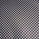 White on Black Polka Dots Dot Fabric Hair Scrunchie Ties Scrunchies by Sherry New
