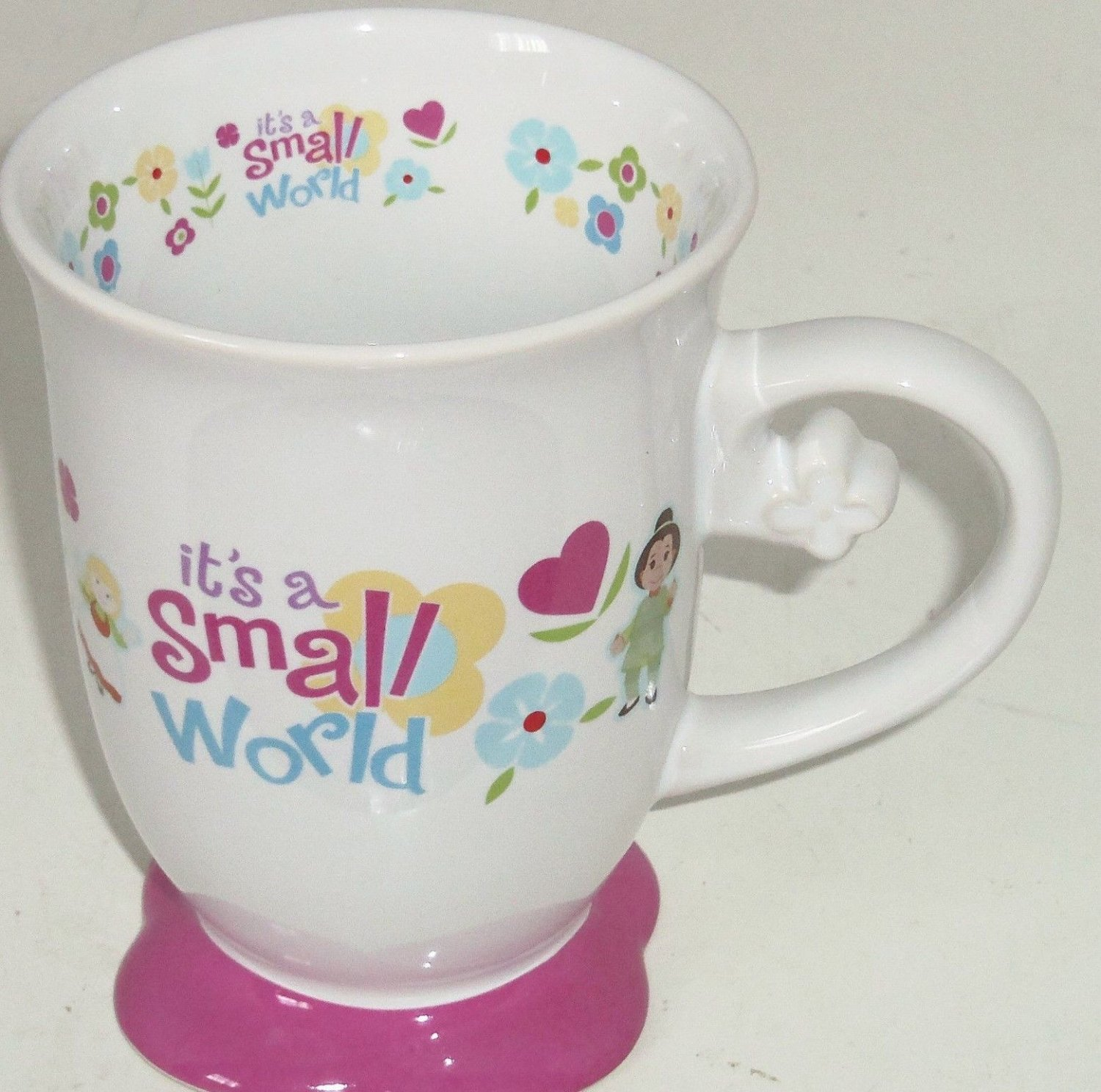 Disney It's a Small World Coffee Mug Cup Theme Parks Floral Children New