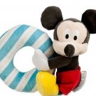 Disney Plush Toy Rattle Mickey Mouse New