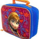 Disney Frozen Anna Lunch Box Bag Tote School Red Blue New
