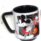 Disney Store Mickey Mouse Mug Cartoon Classic Gray Black Coffee Cup New