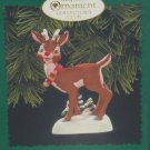 Hallmark Ornament Rudolph Red nosed Reindeer Collectors Club Lights up 1996