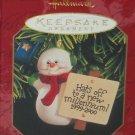 Hallmark Ornament Christmas Millennium Snowman 1999-2000