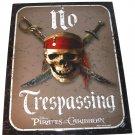 Disney Pirates of the Caribbean Metal Sign No Trespassing Theme Parks New