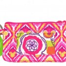 Disney Vera Bradley Bouncing Bouquet Zip ID Case Pink Yellow New