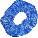 Blue White Floral Flowers Hair Scrunchie Scrunchies by Sherry