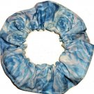 Big Blue Roses Flowers Floral Fabric Hair Ties Scrunchie Scrunchies by Sherry
