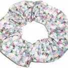 Cottage Roses Floral Flowers Fabric Hair Tie Scrunchie Scrunchies by Sherry
