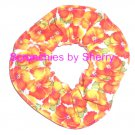 Yellow Orange Floral Flowers Fabric Hair Scrunchie Tie Scrunchies by Sherry