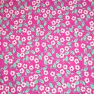 White Teal Pink Floral Fabric Hair Scrunchie Scrunchies by Sherry