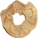 Gold Silver Metallic Foil Spandex Hair Scrunchie Scrunchies by Sherry Fabric Dancewear New