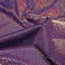 Purple Silver Metallic Foil Spandex Hair Scrunchie Scrunchies by Sherry Fabric Dancewear New