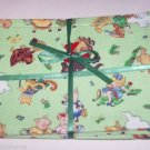 3 Mother Goose Pigs Bears Burp Cloths Baby Terry Cloth Cotton Fabric Shower Gift Small Print