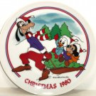 Disney Sleigh Ride Christmas 1980 Collector Plate Goofy Hugie Duck Morty Mouse