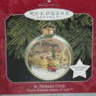 Hallmark Ornament Thomas Kinkade St Nicholas Circle 1998 Painter of Light Lights