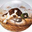 Springer Spaniel Collector Plate 1987 Dog Tired United Kennel Club COA