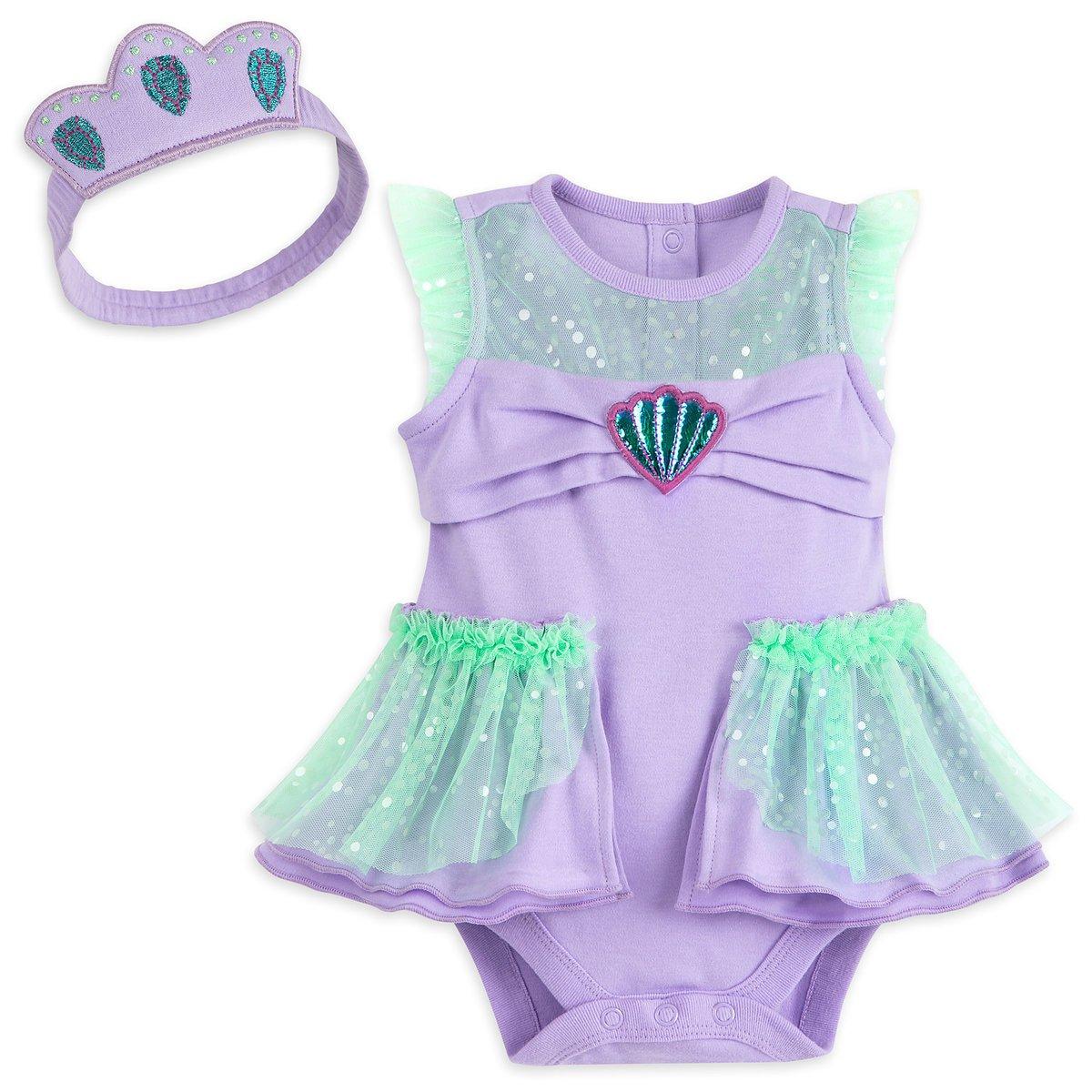 Disney Store Ariel Baby Bodysuit Costume Headband The Little Mermaid 3-6 sold AZ 10/16/2021