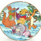Disney Winnie A Singing Holiday Collector Plate Pooh Fun 100 Acre Woods Bradford Exchange