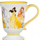 Disney Store The Art of Belle Coffee Mug Princess Beauty Beast Yellow 2016